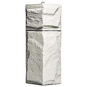 Купить Угол фасадный Т-Сайдинг Гранит Леон Белый