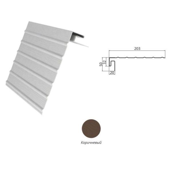 J-фаска (ветровая доска) Коричневый
