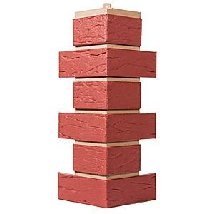 Купить Угол фасадный Т-Сайдинг Саман Красный