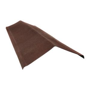 Щипец коричневый для ондулин черепицы