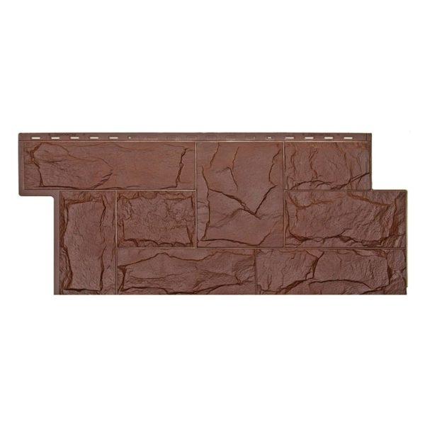 Купить Фасадная панель T-Siding Гранит леон коричневый