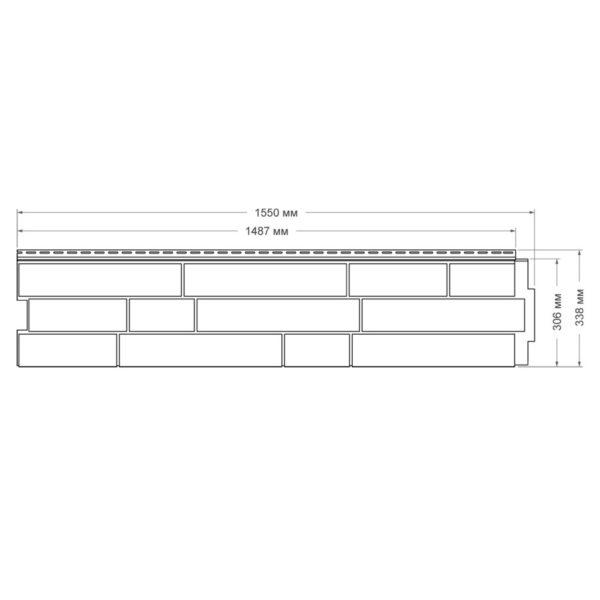 Купить Фасадная панель ЯФасад Гранд Лайн Крымский сланец