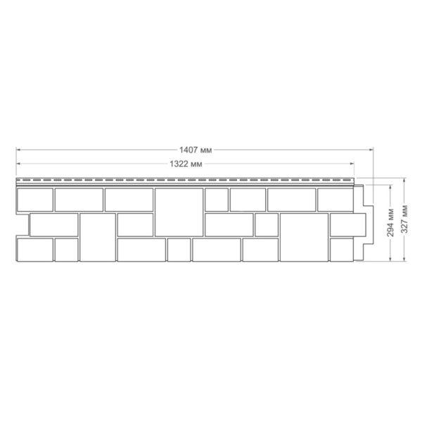 Купить Фасадная панель ЯФасад Гранд Лайн Екатерининский камень