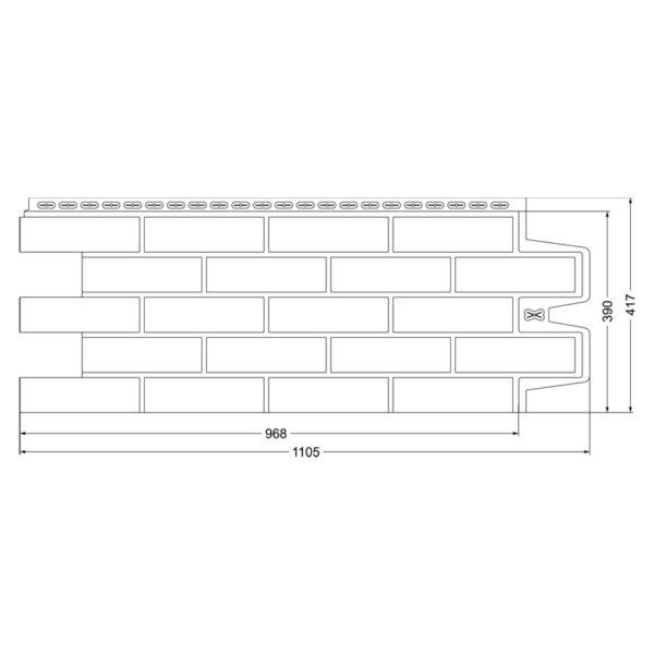 Фасадная панель Grand Line клинкерный кирпич
