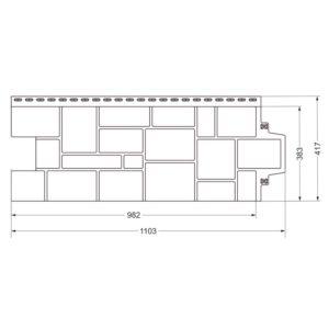 Купить Фасадная панель Гранд Лайн крупный камень схема