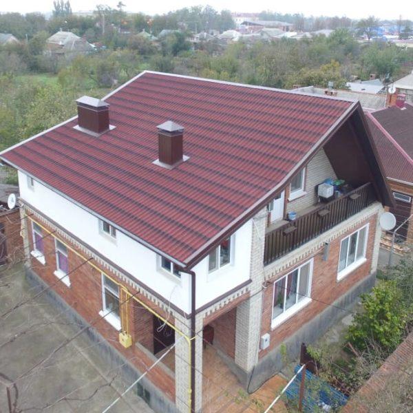Лист Ондулин Черепица красная 960×1950 мм