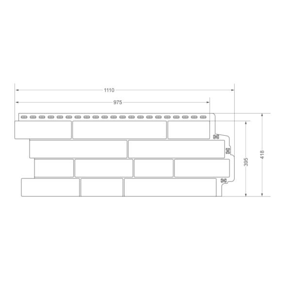Фасадная панель Grand Line сланец