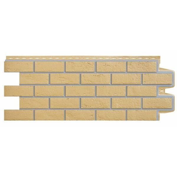 Купить Фасадная панель Гранд Лайн Премиум состаренный кирпич горчичный