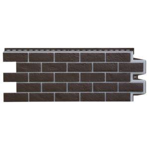 Купить Фасадная панель Гранд Лайн Премиум состаренный кирпич шоколад