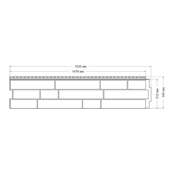 Купить Фасадная панель ЯФасад Гранд Лайн Скала