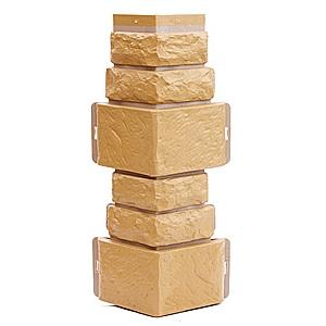 Купить Угол фасадный T-Siding Дикий камень Бежевый