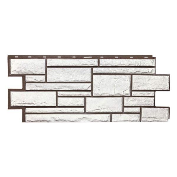 Купить Фасадная панель T-Siding Дикий камень Белый