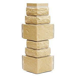 Купить Угол фасадный Т-Сайдинг Дикий камень Желтый