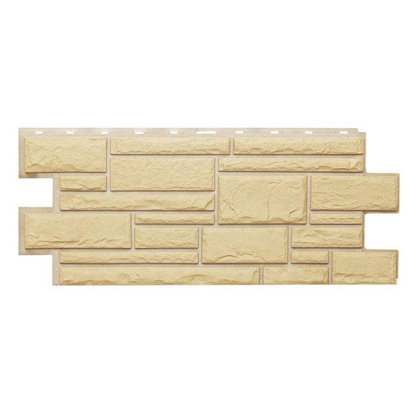 Купить Фасадная панель Т-Сайдинг Дикий камень Желтый
