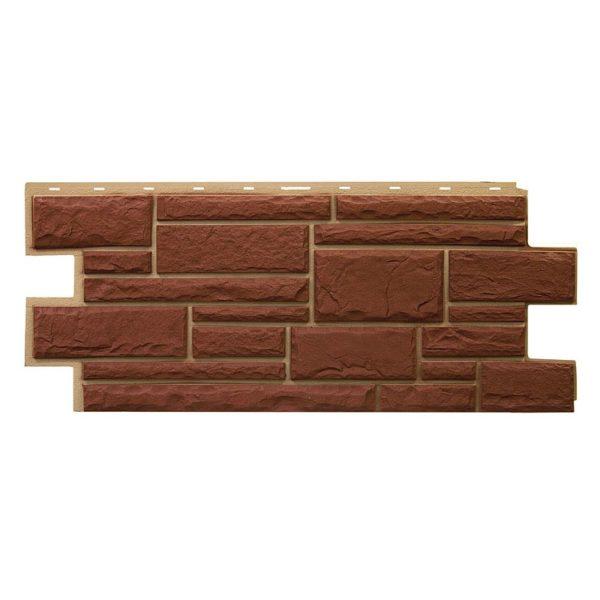 Купить Фасадная панель Т-Сайдинг Дикий камень Коричневый