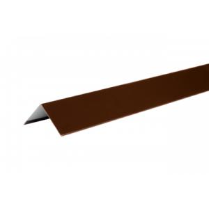 Купить Уголок металлический внешний (полиэстр) коричневый