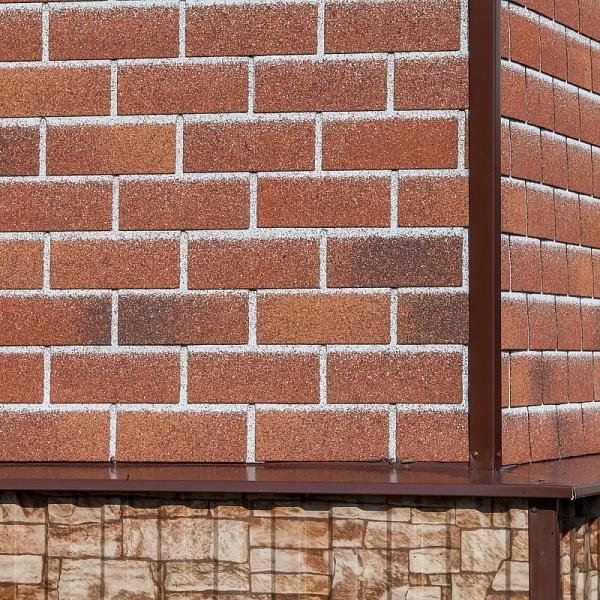 Плитка фасадная Технониколь HAUBERK Красный кирпич