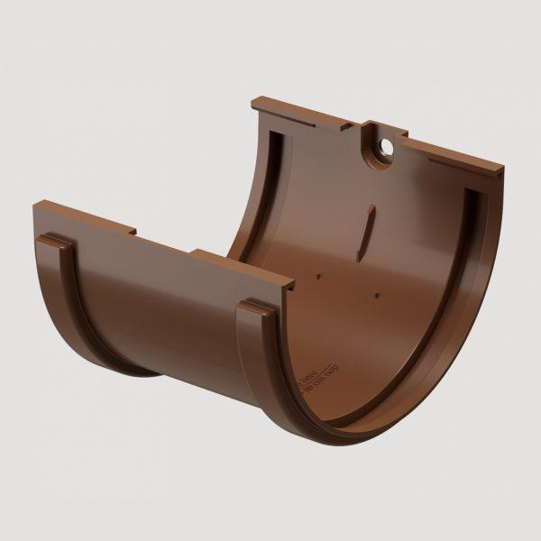 Купить Соединитель желоба Деке коричневый