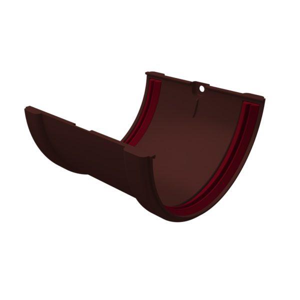 Купить Соединитель желоба Grand Line коричневый